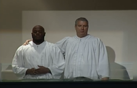 Ronald Patrick, now a member of the Dallas Cowboys baptized during the Team Impact crusade.