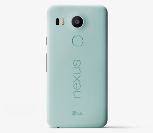 the Nexus 5x in Ice, in 16 GB and 32 GB