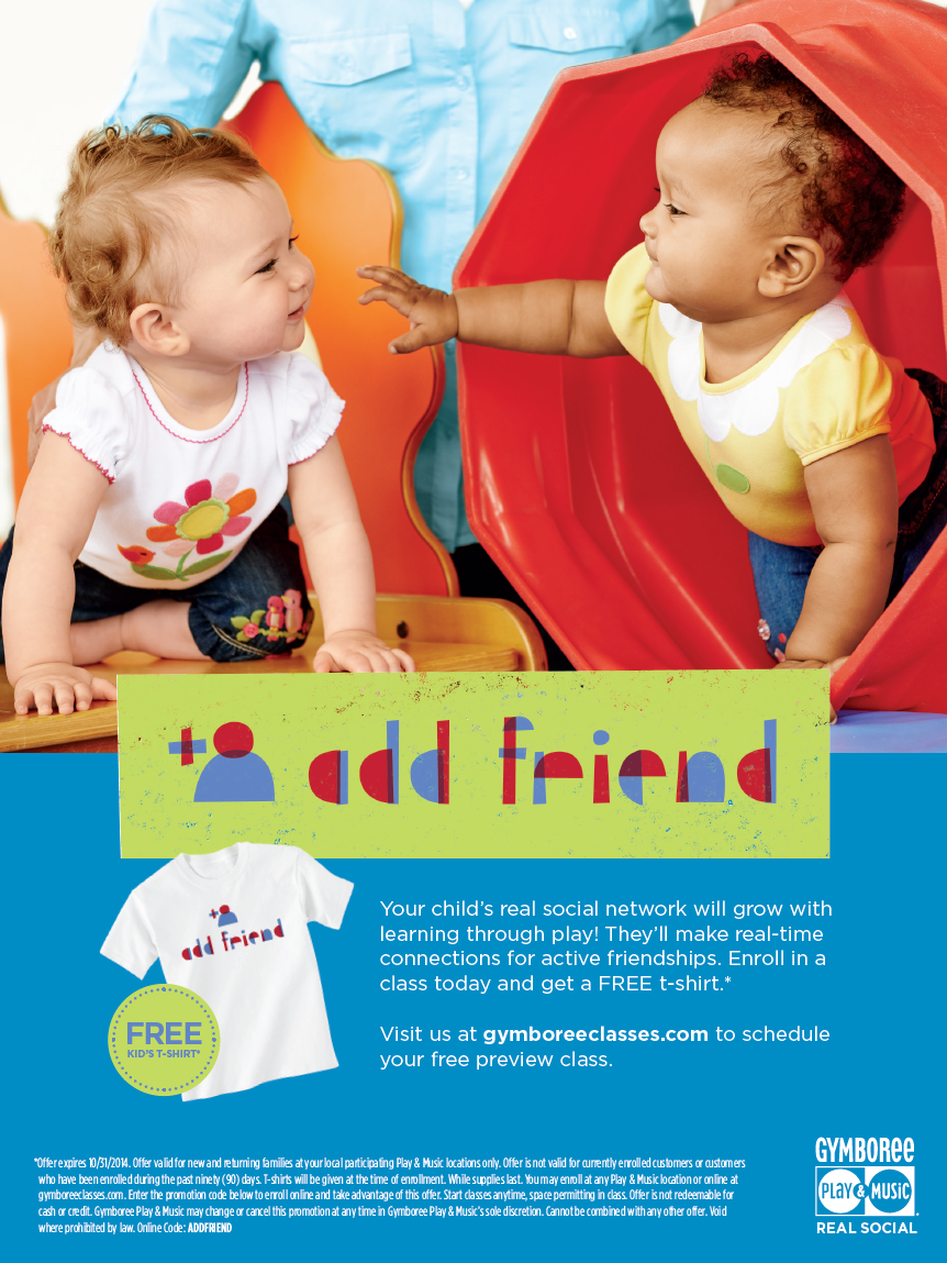 "The final ad. They loved the ""add friend"" t-shirt GWP idea."