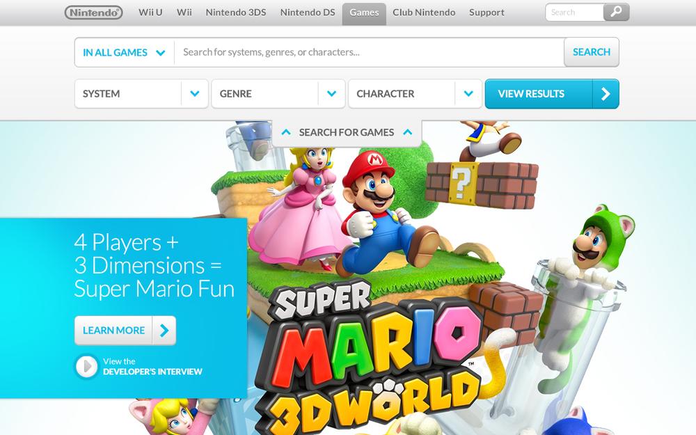 Nintendo Responsive Home 1