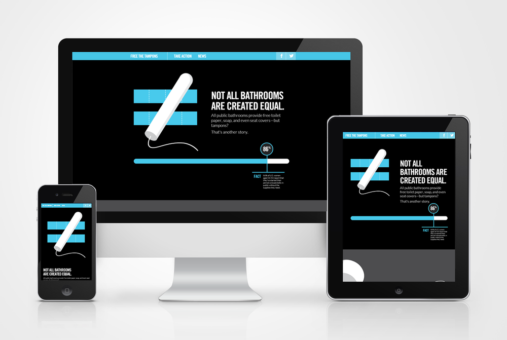 Check out the fully-animated, fully responsive campaign site for  Free the Tampons .