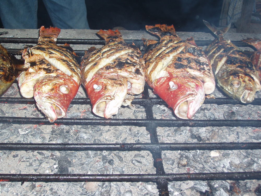 Grilled fish in Aceh