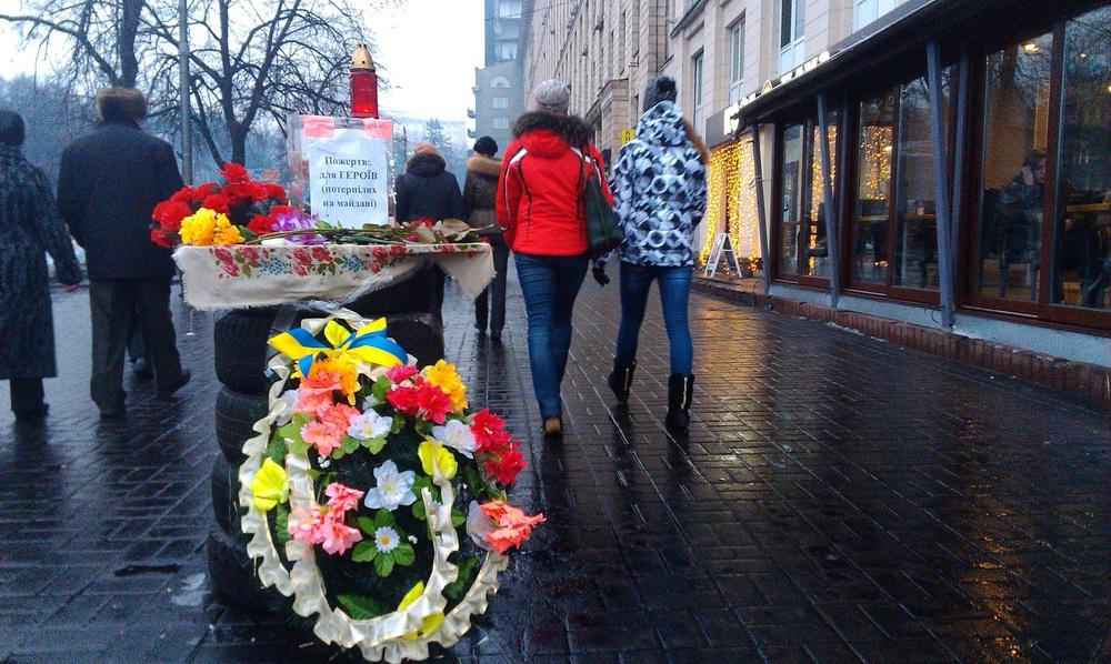 Memorial to a sniper victim