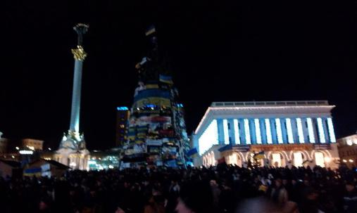 The national Christmas tree has become a symbol of Euromaidan