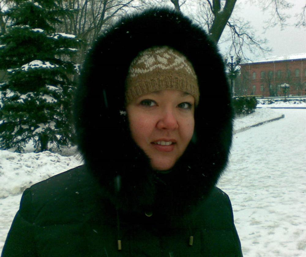 Ukrainian snow bunny