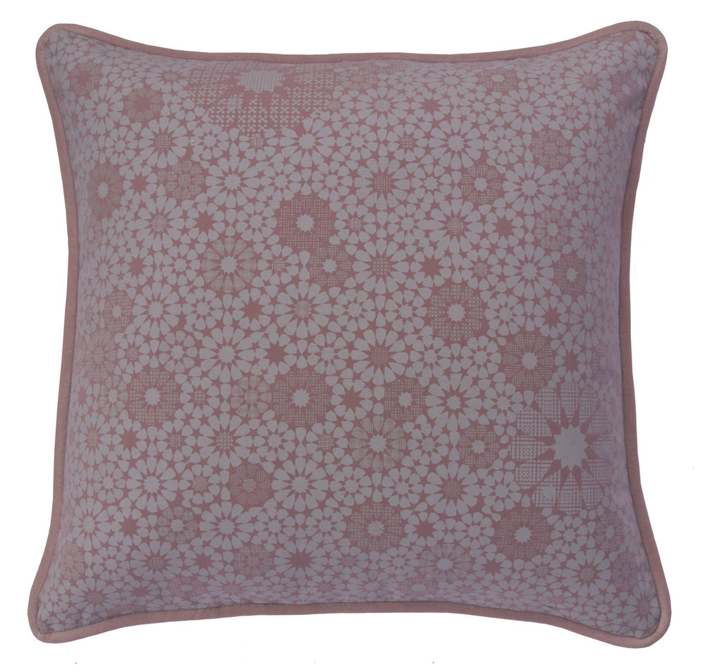 """Maroc, 19"""" pillow in Baby PInk"""
