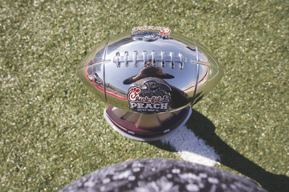DAY 53- Photographed the Peach Bowl trophy today.