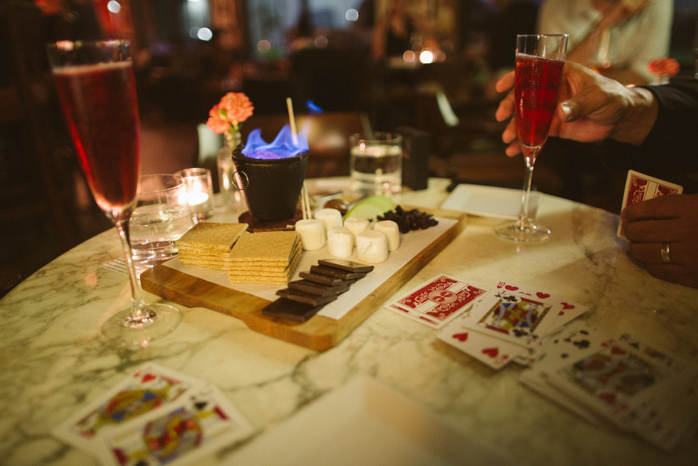 Ended the night with Rosé, s'mores and a deck of cards.
