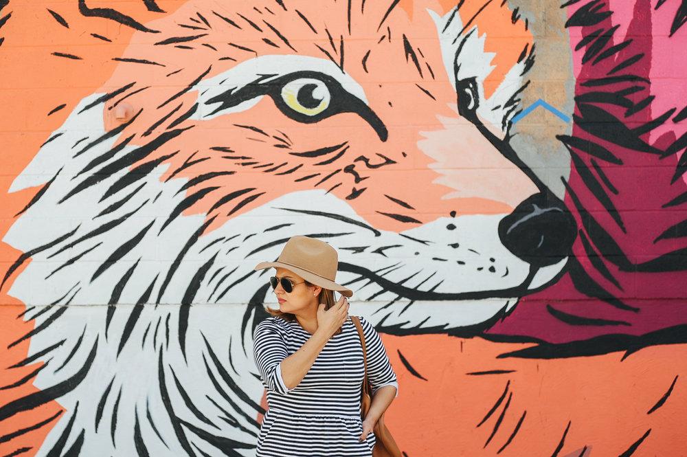 Artist Alley murals.