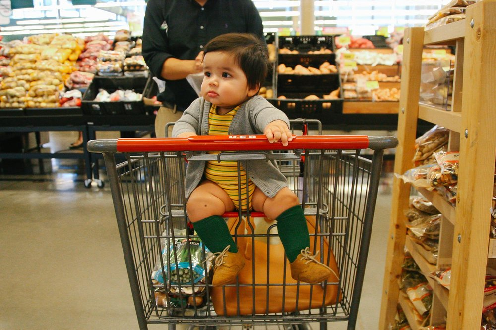 Grocery shopping.