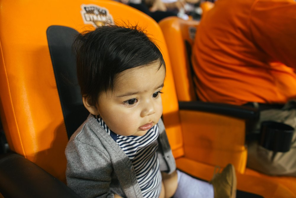 Sebastian's first Dynamo game.