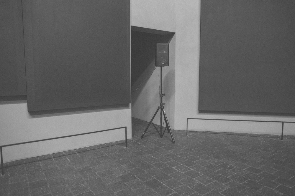 Audio instillation at the Rothko Chapel.