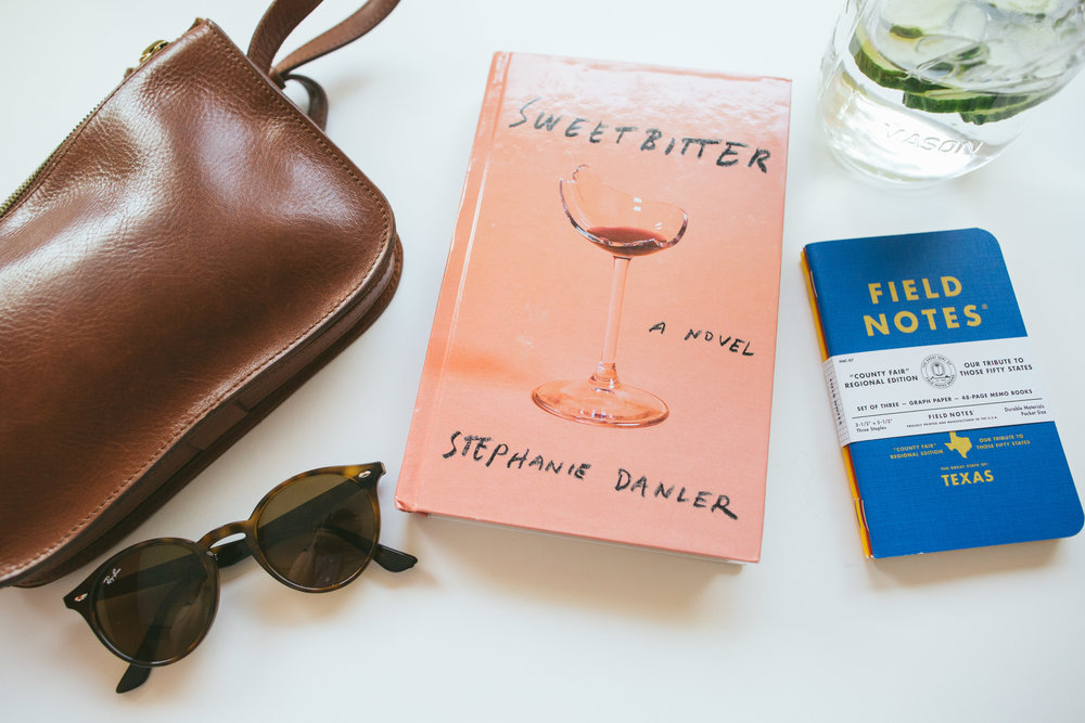 Current favorites, brown leather bag from Madewell, I always have to have a pair of sunglasses with me, started reading Sweetbitter by Stephanie Danler, and really enjoying cucumber water. Lastly, I love this color combo used by Field Notes on their notebooks, very Wes Anderson.