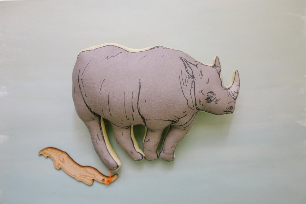 Came across this stuffed Rhino, also from  Space Montrose . I believe this is the  artist .