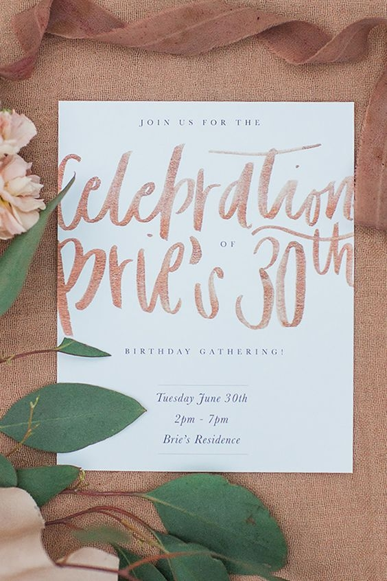 INVITATIONS - I am still debating if I will design or purchase all ready made invitations. Minted has a great selection.