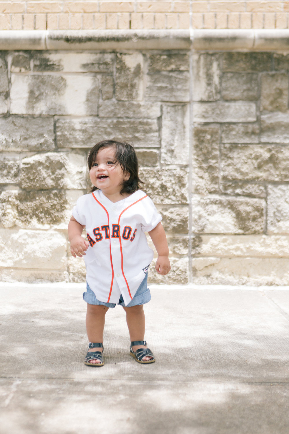 Sebastian looks so stinking cute in his Astros jersey.