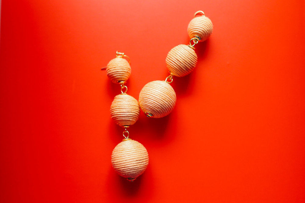 Ball drop earrings from  Baublebar .