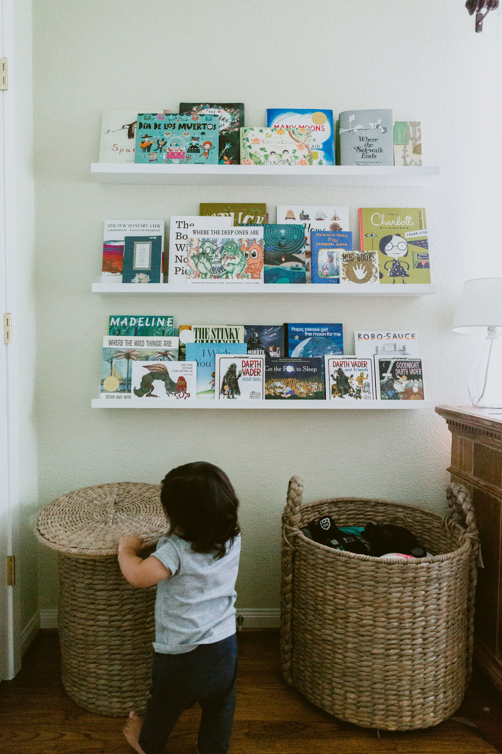 Sebastian's little library keeps growing.