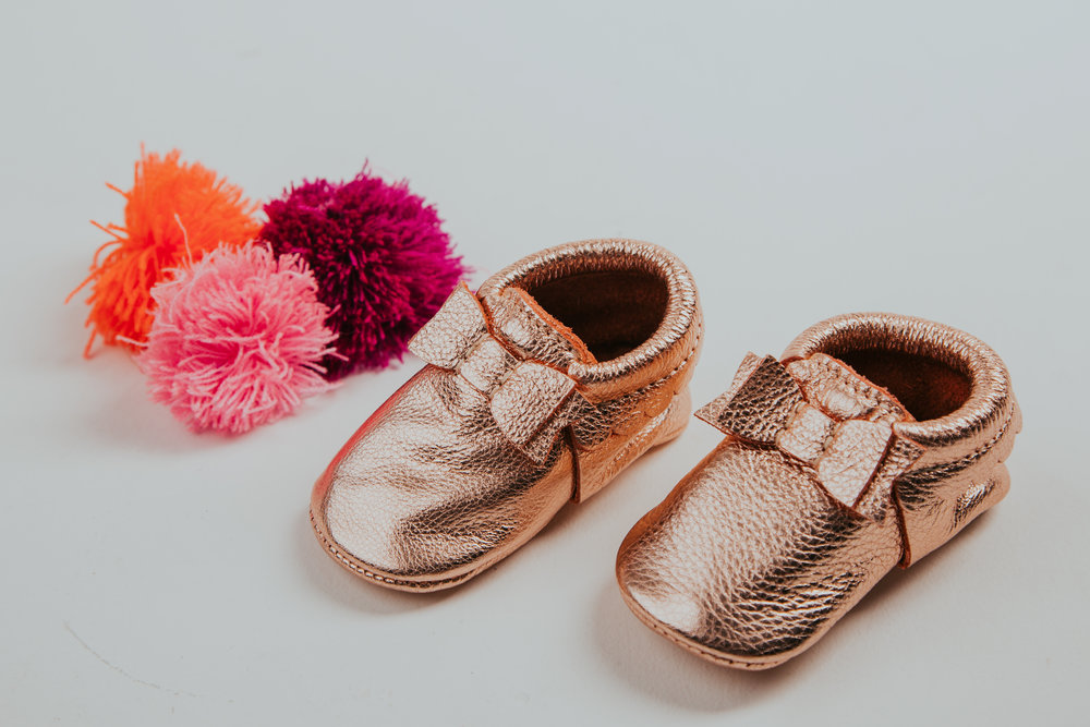 Rose Gold Bow Moccs by   Freshlypicked
