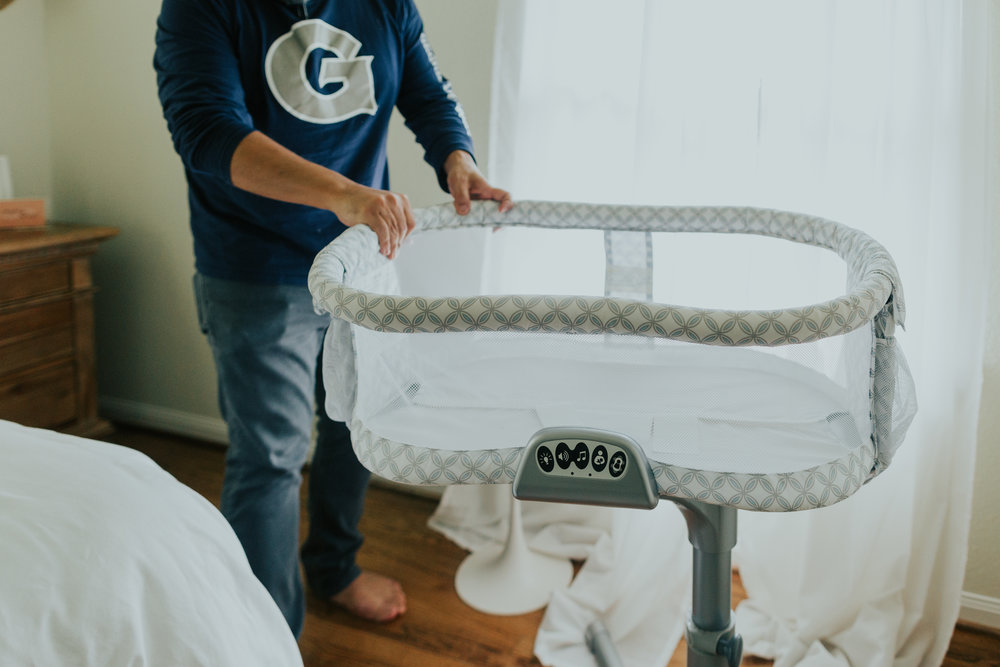 Sebasitian slept in this bassinet for three months before we transitioned him over to his crib.