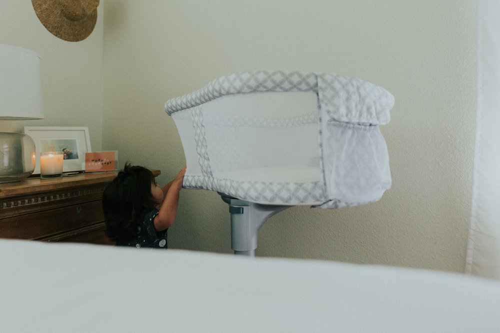 Sebastian has no idea whats coming. He loved spinning the bassinet around. Not sure if Gigi will appreciate that.