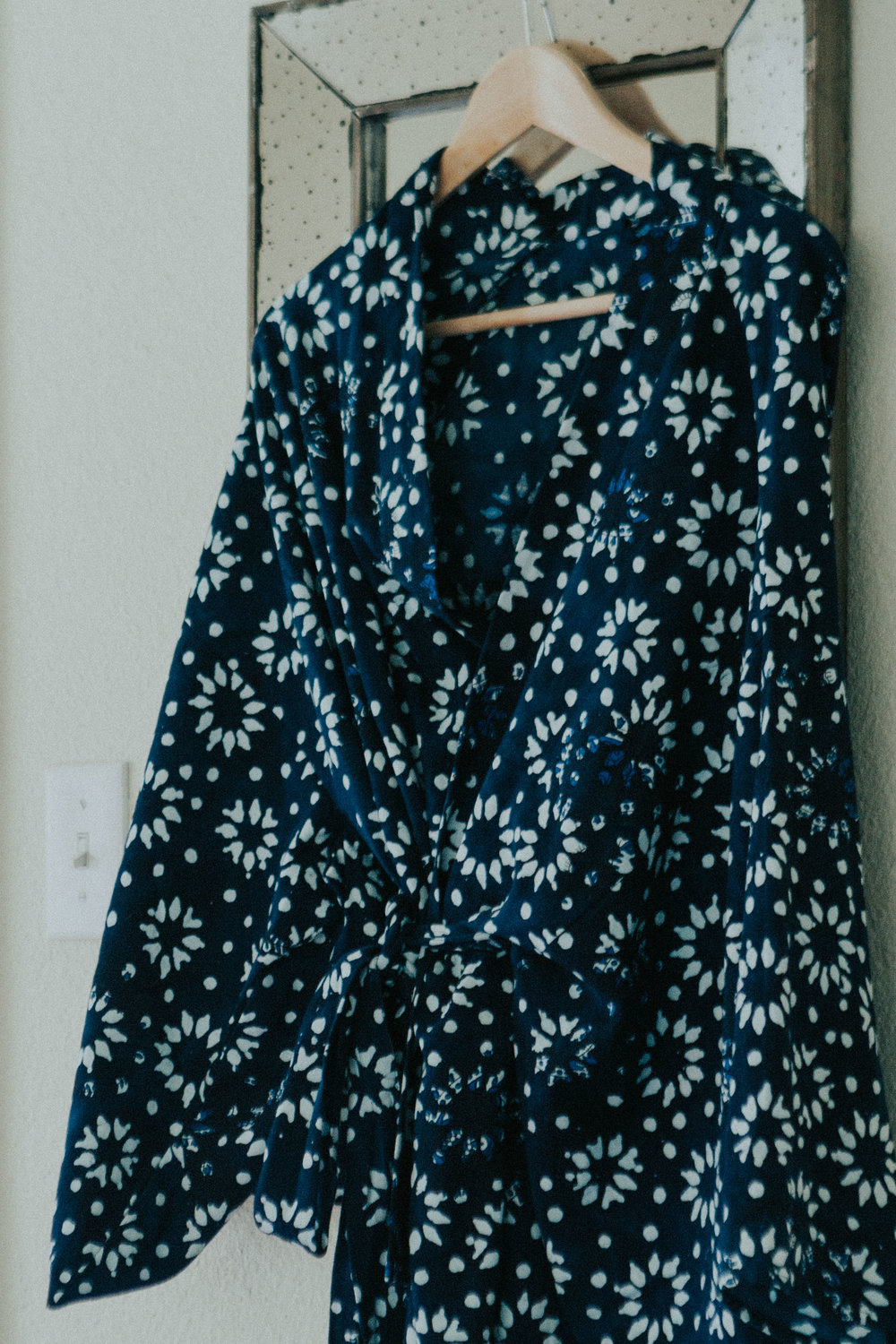We recently took a trip to Austin and stayed at Hotel Saint Cecilia. I fell in love with their robes. Nicholas surprised me with one as my push gift a few weeks ago. It's a sweet little reminder from our trip.