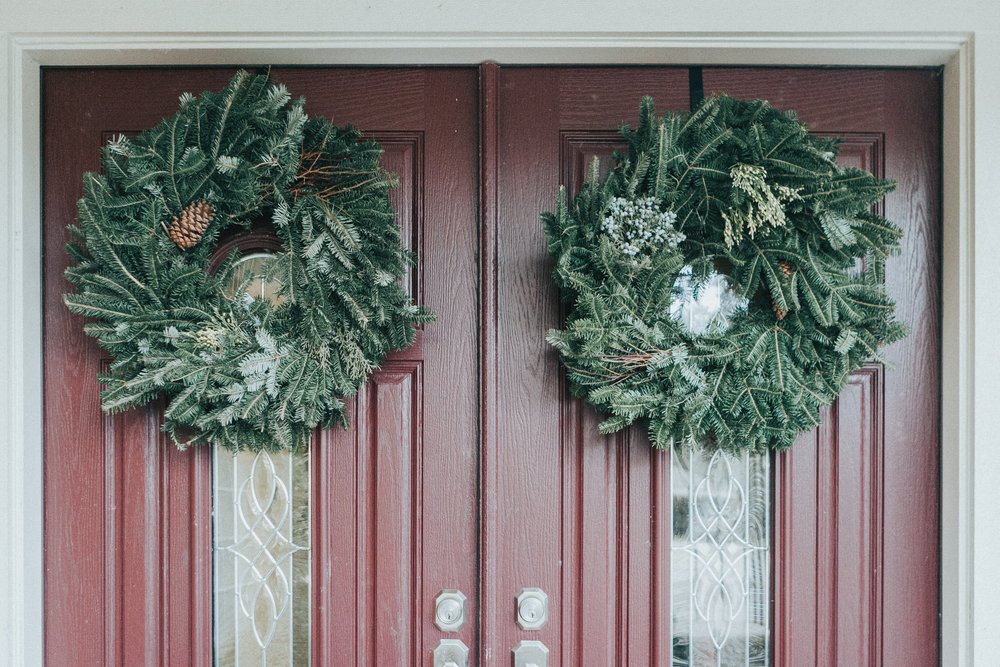 $9 wreaths from Trader Joe's