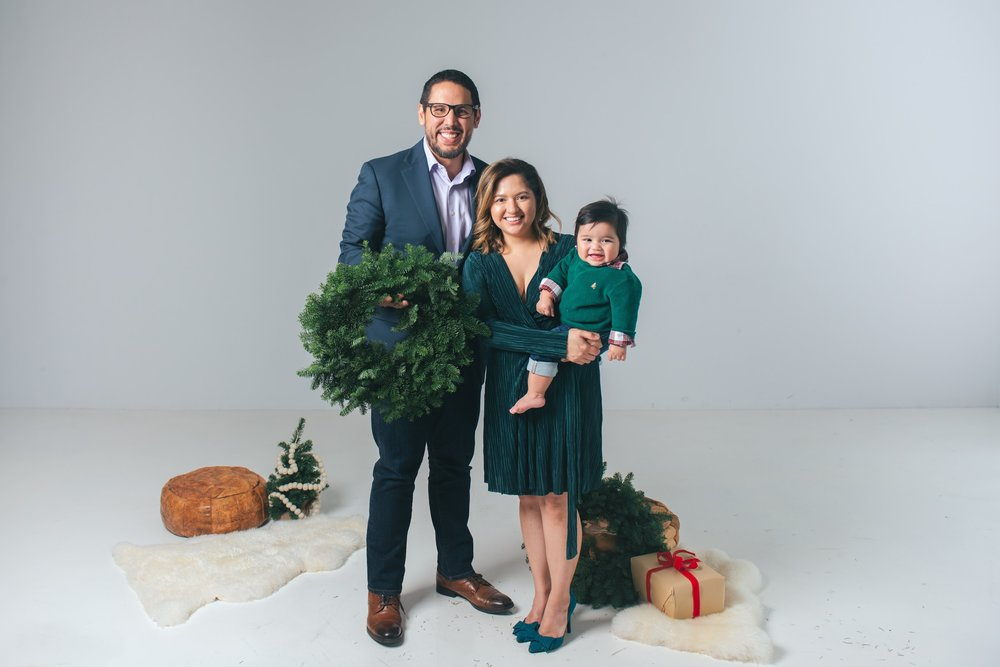 Our first Christmas photo by Erica Parks.