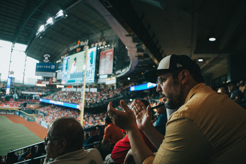 Supporting HOUSTON and going to games is great.