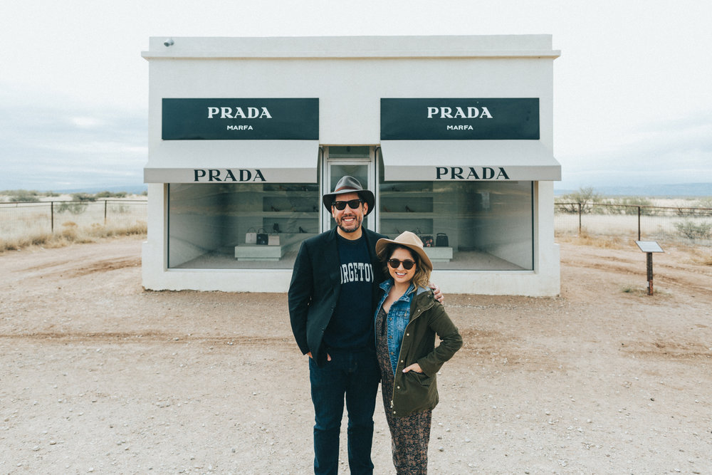Our first visit to Marfa, TX. We hope to buy property there someday.