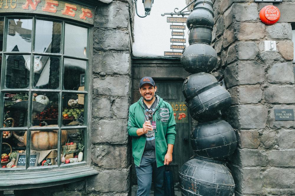 We finally visited Hogwarts, a dream come true.