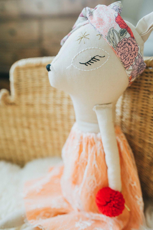 Gigi's tutu wearing fawn .