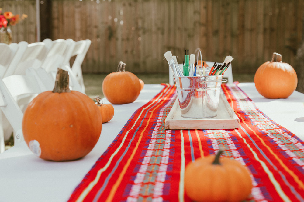Pumpkins for the little ones to paint and decorate.