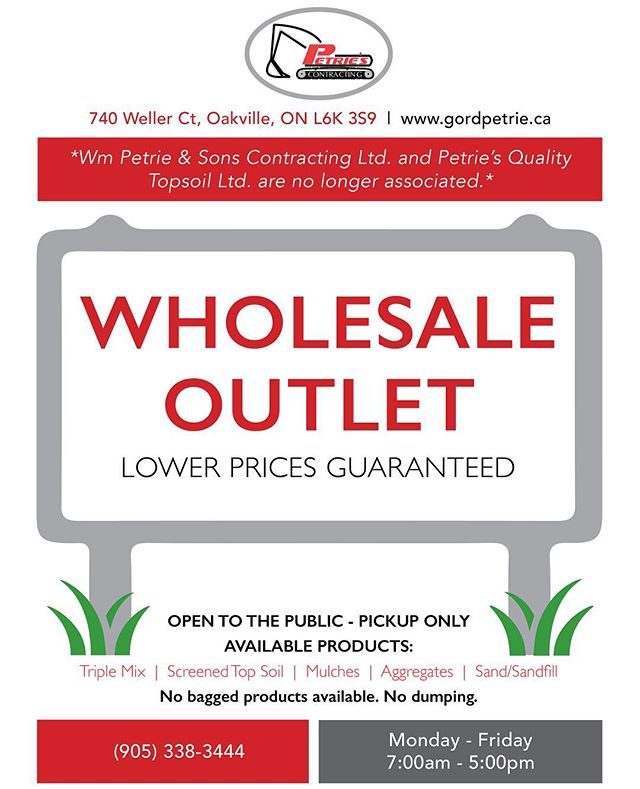 The season is almost here #wholesale#petries#contracting#opentothepublic#productsforsale#oakville#haltonregion