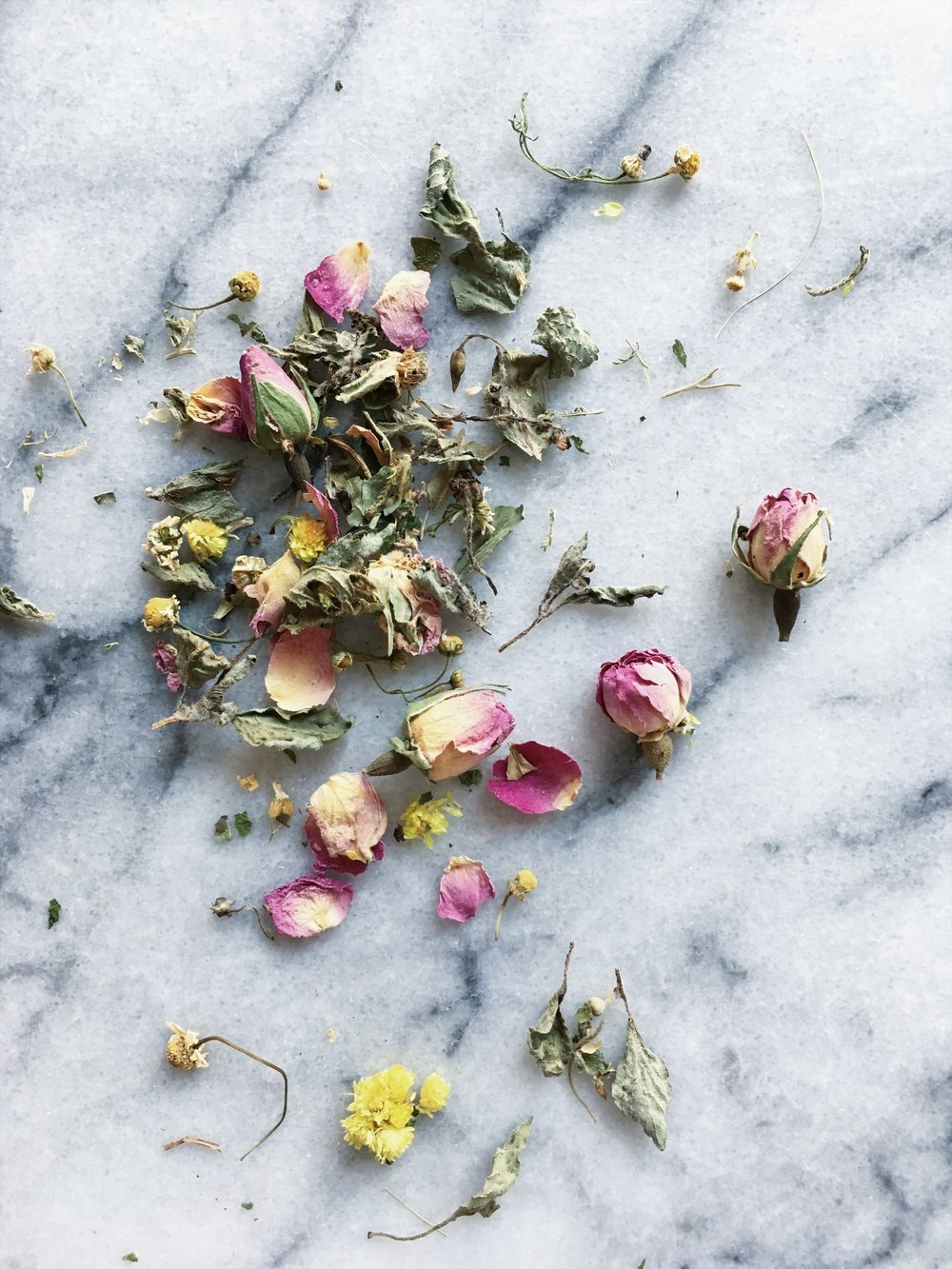 marble & milkweed | blossom facial steam (on marble).JPG