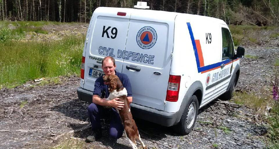 Max & his handler Mick - Dublin Civil Defence K9 Unit