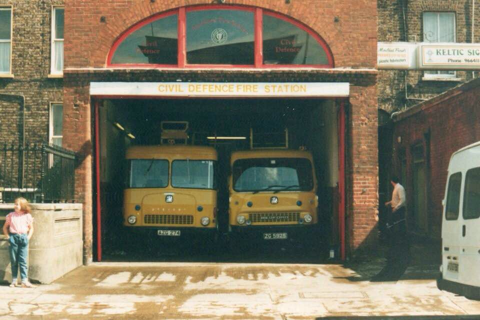 Old Rathmines Fire Station, bit tight as the driver of one appliance had to climb out the window, on to the roof and off the back