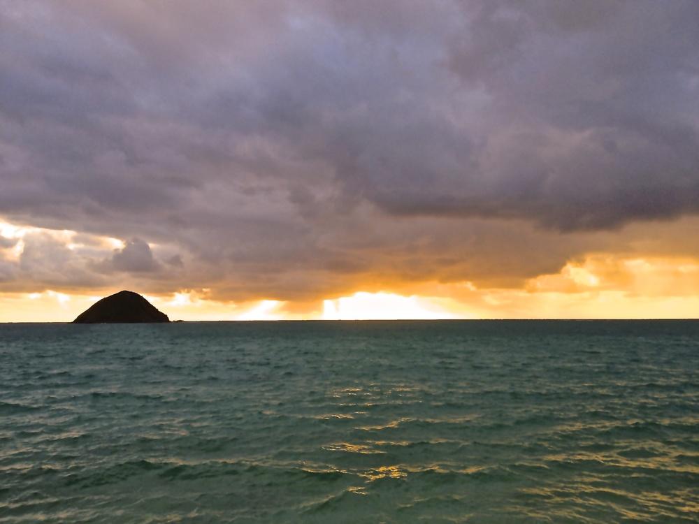 "A fresh start to Wakefulness with a view of ""The Moks"", Kailua, HI 2014"