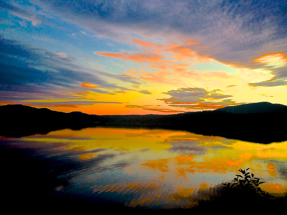 Mirrored Sunset glowing inside out.