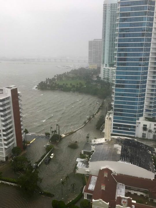 Photo taken Sept. 10 as Hurricane Irma impacted Miami.