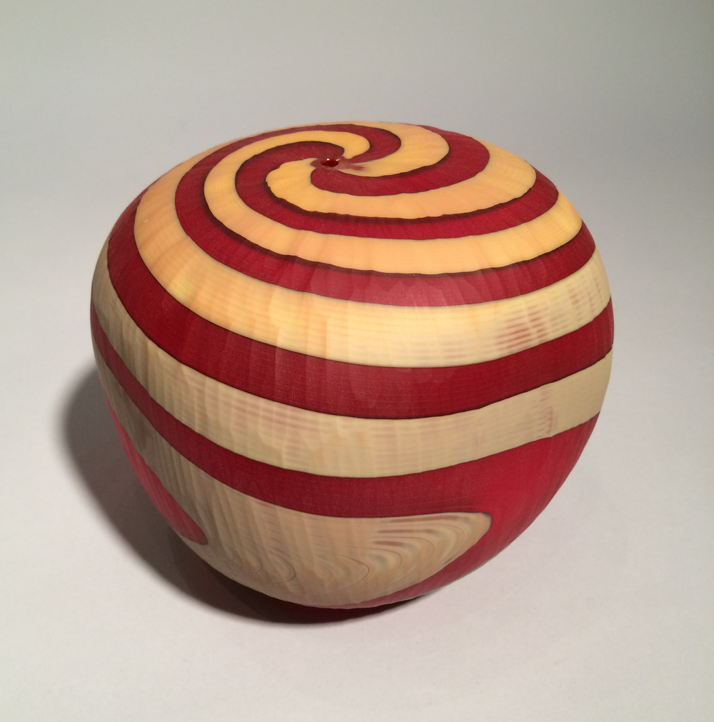 Mattia and Marco Salvadore, Spirale, blown and carved glass, vessel, vase, Italian, Sherrie Gallerie