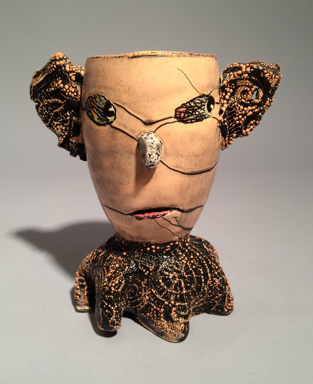 Andy Nasisse, Peach Cup, ceramic, Sherrie Gallerie