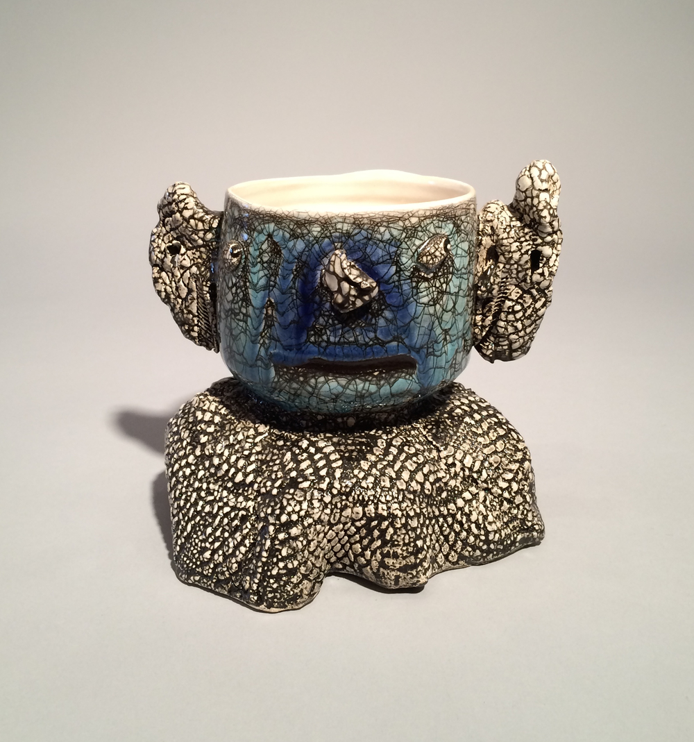 Andy Nasisse, Blue Tea Bowl, ceramic, Sherrie Gallerie