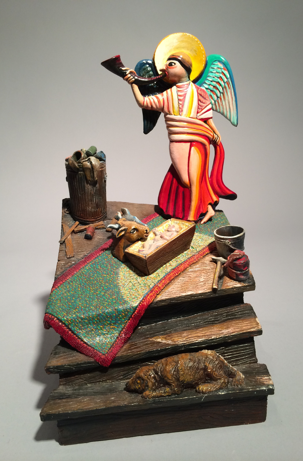 Jack Earl, Nativity, ceramic, Sherrie Gallerie