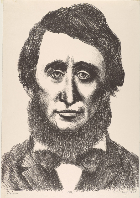 Sid Chafetz, Thoreau, lithograph, printmaking, Sherrie Gallerie