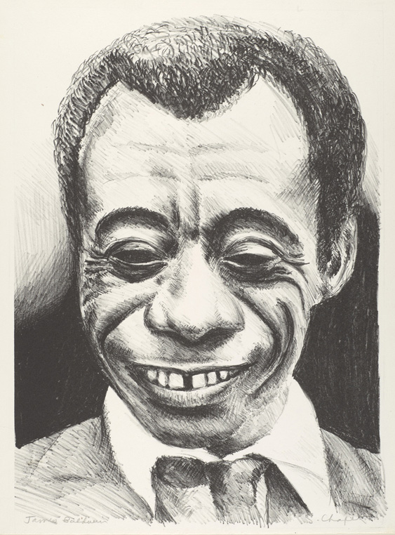 Sid Chafetz, James Baldwin, lithograph, printmaking, Sherrie Gallerie