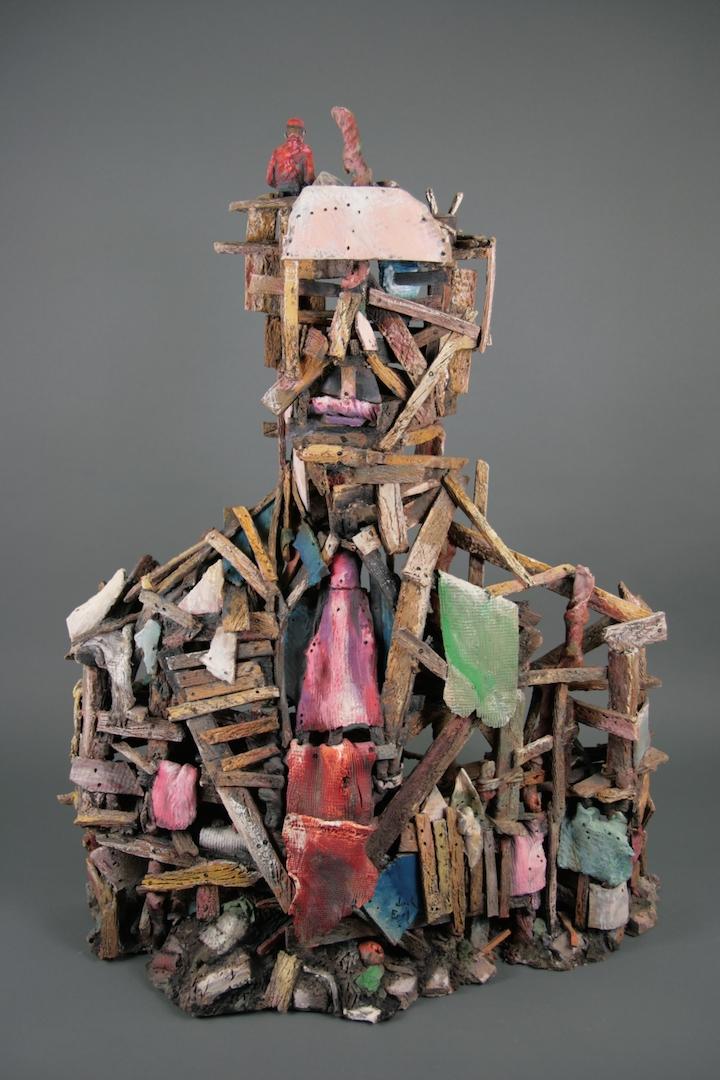 Jack Earl, Man Made Man, ceramic, Sherrie Gallerie