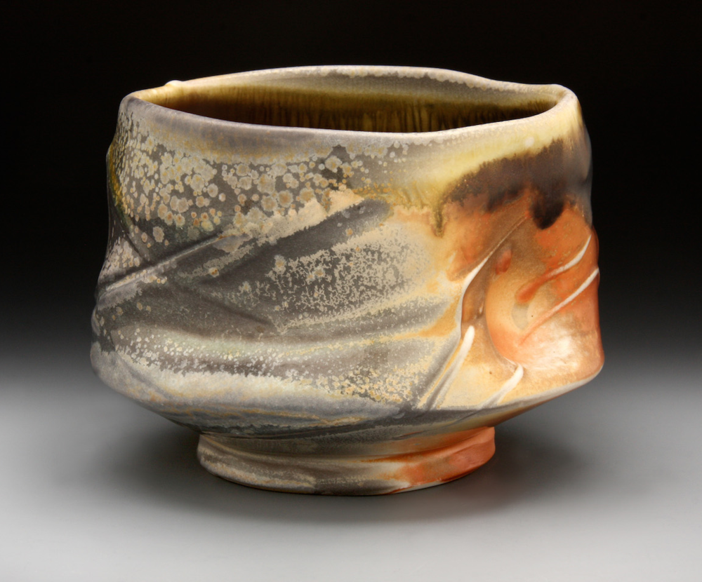 Tom Coleman, Wood Fired Tea Bowl, porcelain ceramic vessel, functional, pottery, Sherrie Gallerie
