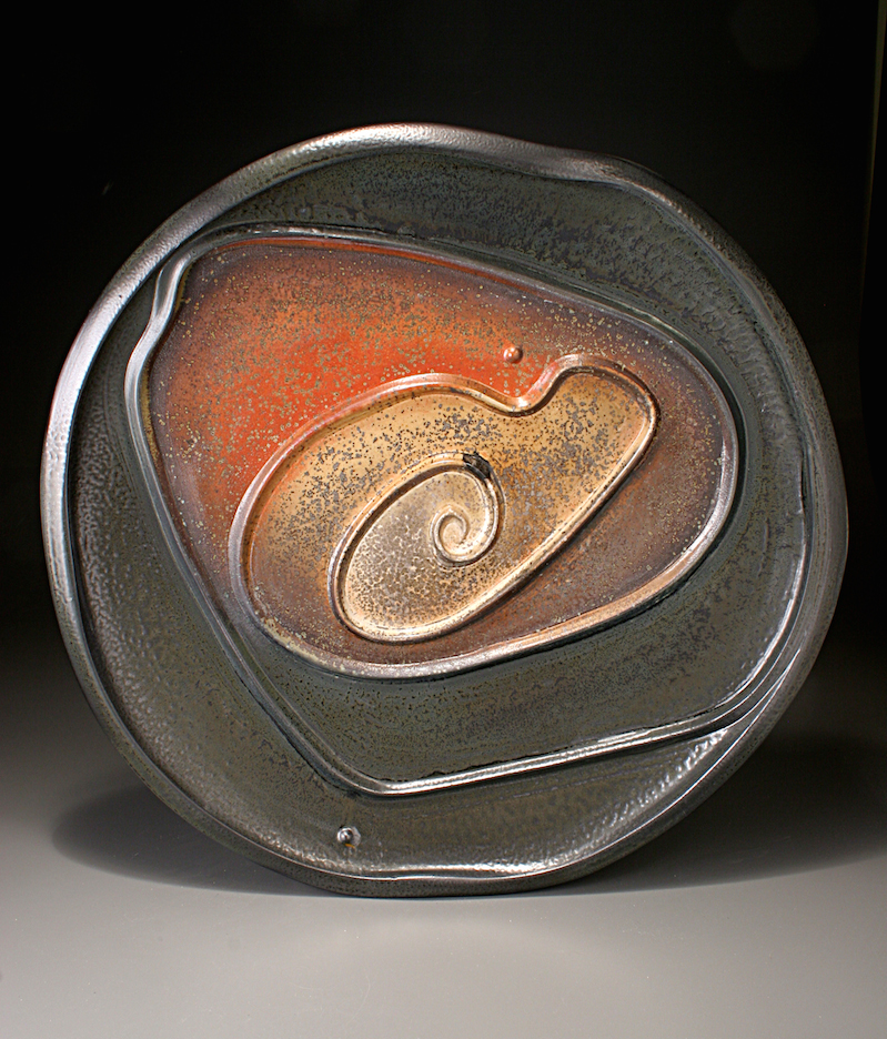 Tom Coleman, Large Platter, porcelain ceramic vessel, pottery, Sherrie Gallerie