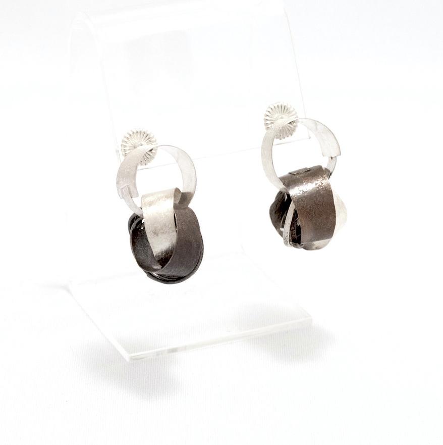 Biba Schutz,Art Jewelry, Earrings, Bronze, Silver, Studs, Hoops, Sherrie Gallerie